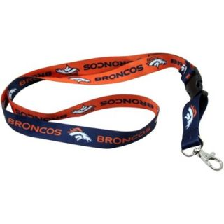 Denver Broncos Breakaway Lanyard   Navy Blue/Orange