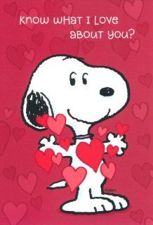 Valentine's Day Greeting Card   Peanuts Snoopy Charles Schulz Health & Personal Care
