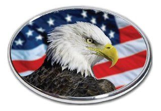 "American Eagle Flag   2"" Hitch Receiver   3/8 Inch Thick High Grade Aluminum   American Bald Eagle Flag 3   Size 4"" X 6"" Automotive"
