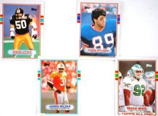 1989   NFL / Topps   4 Vintage Football Trading Cards   Reggie White / Mark Bavaro / David Little / James Wilder   Out of Production   Rare   Collectible