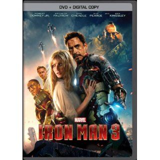 Iron Man 3 (DVD + Digital Copy) Robert Downey Jr., Gwyneth Paltrow, Don Cheadle, Guy Pearce, Rebecca Hall, Stephanie Szostak, James Badge Dale, Jon Favreau, Ben Kingsley, Shane Black Movies & TV