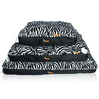 Washable Large Square Black and White Zebra Dog Beds Mat Pet Kennels Size M H51099A