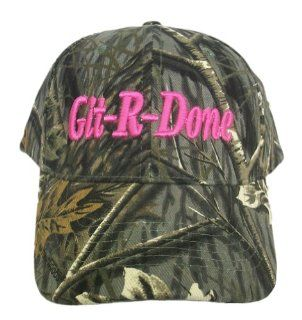 Git R Done Larry the Cable Guy Girl's Pink Camo Hat Cap (Pink Camo Hat) Sports & Outdoors