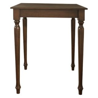 Dining Table Crosley Turned Leg Pub Table Set   Mahogany