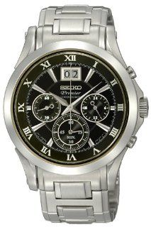 Seiko Twin Date Chronograph Mens Watch SPC057 at  Men's Watch store.