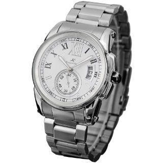 New Ks Automatic Mechanical Date Stainless Steel Roman Numeral Men Wrist Watch at  Men's Watch store.