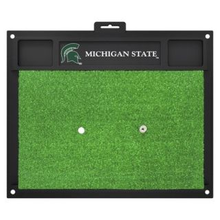 Fanmats NCAA Michigan State Spartans Golf Hitting Mats   Green/Black (20 L x