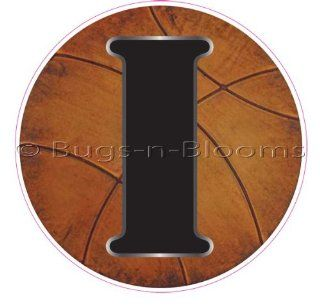 """I"" Basketball Alphabet Letter Name Wall Sticker (5 1/2"" Diameter)   Decal Letters for Children's, Nursery & Baby's Sport Room Decor, Baby Name Wall Letters, Boys Bedroom Wall Letter Decorations, Child's Names. Sports Balls M"