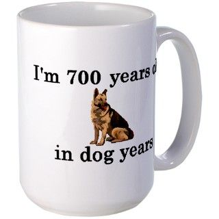 100 birthday dog years german shepherd 2 Mug by PARTYHUT