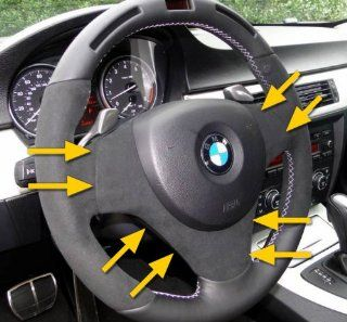 Genuine OEM BMW Performance Steering Wheel Cover WITHOUT Multi Function Buttons   (1 Series 2008 2012/ 3 Series 2007 2012 (Except 2012 3 Series Sedans)/ M3 Coupe 2008 2012/ M3 Sedan 2008 2011) Automotive