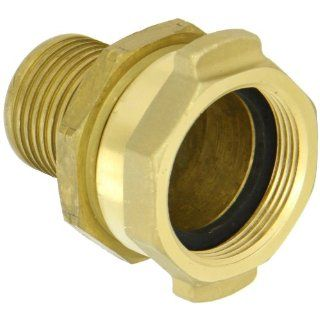 "Dixon H5231 A BU Brass API Certified Holedall Fitting, Permanently Attached Petroleum Coupling, 1 1/2"" NPSH Female x 1 1/2"" Hose ID Barbed"