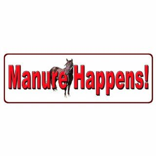 River's Edge Large Manure Happens Tin Sign, White  Hunting Camouflage Accessories  Sports & Outdoors