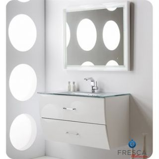 Fresca Platinum Wave 40 Glossy White Modern Bathroom Vanity