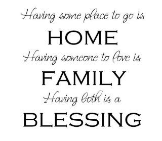 Having somewhere to go is a home.Family Wall Quotes Words Sayings Removabl  Wall Decor Stickers