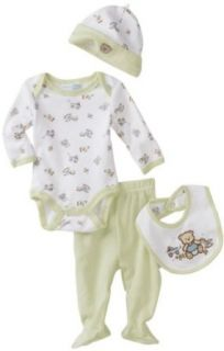 "Vitamins Baby Boy ""Preemie"" Teddy Bear and Toys Four Piece Creeper Pant Set Clothing"