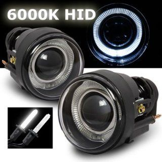 05 09 Dodge Charger 6000K HID Halo Projector Fog Lights Kit with Ballasts Automotive