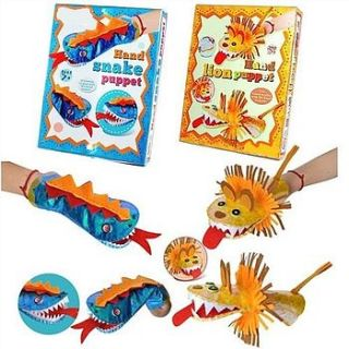 animal hand puppet craft kit by sleepyheads
