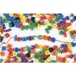 Lower Case Letter Beads; Multi Colored; 288 Piece Pack; no. R 2186