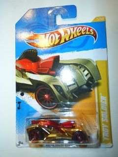 Hot Wheels 2012 New Models #1/50 Gold Chrome & Red TROY SOLDIER #1/247 Collectible Car Toys & Games