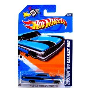 Hot Wheels   Custom '64 Galaxie 500 (Teal)   Muscle Mania, Ford 12   3/10 ~ 113/247 [Scale 164] Toys & Games