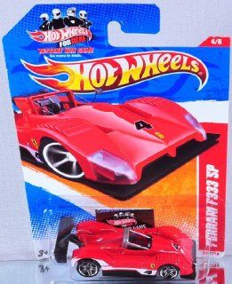 Hot Wheels Ferrari F333 SP, 4/6, Thrill Racers   Raceway, Color Red, 220/244, 164 Scale Toys & Games