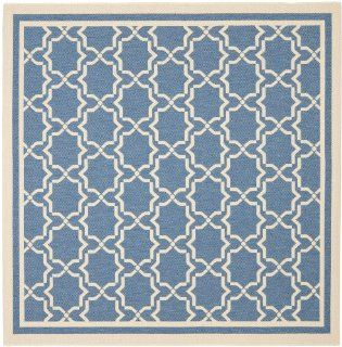 Safavieh CY6916 243 Courtyard Collection Indoor/Outdoor Square Area Rug, 7 Feet 10 Inch, Blue and Beige