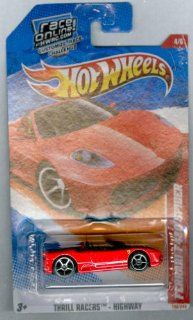 Hot Wheels 2011 Ferrari F430 Spider, 190/244 Thrill Racers   Highway 4/6, 164 Scale (Red) Toys & Games