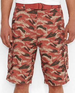 Levis Leaf Camo Mineral Red Snap Cargo Shorts   Shorts   Men