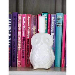 owl candle holder by rose & grey