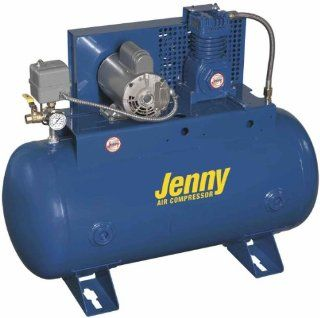 Jenny Compressors 2(F12C) 30C 230/1 1 HP 30 Gallon Tank 1 Phase 230 Volt, Single Stage Duplex Electric Climate Control Compressor   Stacked Tank Air Compressors