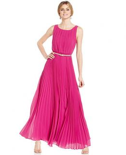 Eliza J Sleeveless Pleated Maxi Dress   Dresses   Women