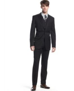 Bar III Suit Separates Black Solid Extra Slim Fit   Suits & Suit Separates   Men