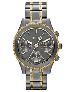 DKNY Watch, Womens Chronograph Crystal Two Tone Ion Plated Stainless Steel Bracelet 38mm NY8708   Watches   Jewelry & Watches