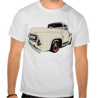 Old Ford F100 Pickup Truck in Cream Tee Shirts