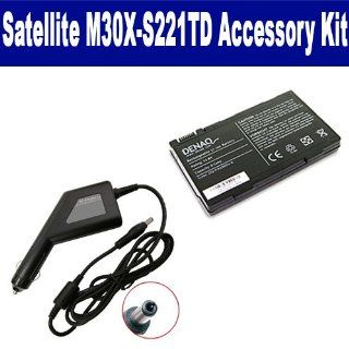 Toshiba Satellite M30X S221TD Laptop Accessory Kit includes SDDQ PA3395U 8 Battery, SDA 3556 Car Adapter Computers & Accessories