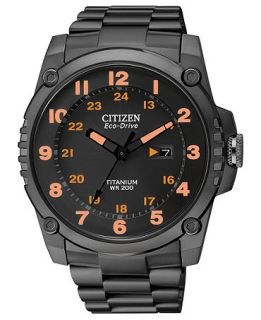 Citizen Mens Eco Drive Super Tough Black Titanium Bracelet Watch 43mm BJ8075 58F   Watches   Jewelry & Watches