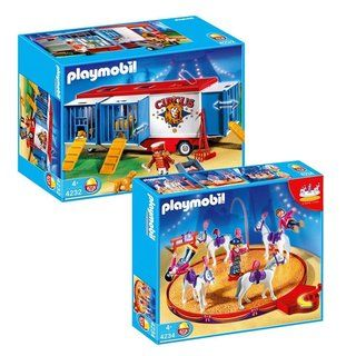 Playmobil Circus Animal Horse Act/ Trailer Playmobil Play Sets
