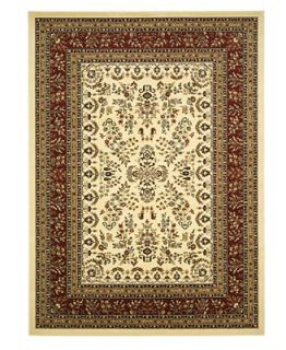 MANUFACTURERS CLOSEOUT Safavieh Area Rug, Lyndhurst LNH331A Ivory/Red 5 3 x 7 6   Rugs