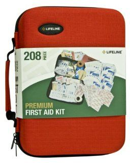 Lifeline 4038 Red Premium Hard Shell First Aid Kit   208 Piece Automotive