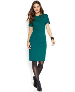 Vince Camuto Short Sleeve Ponte Sheath Dress   Dresses   Women