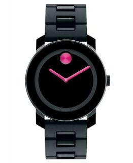 Movado Swiss Bold Medium Black Polyurethane Bracelet Watch 36mm 3600095   Watches   Jewelry & Watches