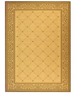 MANUFACTURERS CLOSEOUT Safavieh Area Rug, Courtyard Indoor/Outdoor CY1502 3901 Sand/Black 7 10 x 11   Rugs