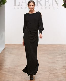 Lauren Ralph Lauren Split Sleeve Jersey Gown   Dresses   Women