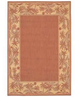 MANUFACTURERS CLOSEOUT Safavieh Rugs, Courtyard Indoor/Outdoor CY2665 3202 Orange   Rugs