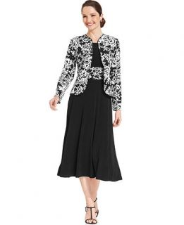 Jessica Howard Sleeveless Floral Print Dress and Jacket   Dresses   Women