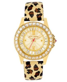 Betsey Johnson Watch, Womens Leopard Print Patent Leather Strap BJ00004 02   Watches   Jewelry & Watches