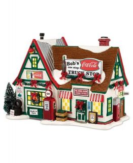 Department 56 Snow Village Bobs Truck Stop Collectible Figurine   Holiday Lane