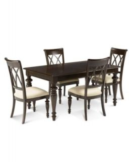 Crestwood Dining Room Furniture, 5 Piece Set (Dining Table and 4 Side Chairs)   Furniture