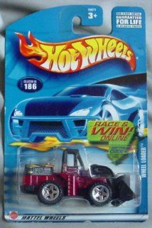 Hot Wheels 2002 Wheel Loader #186 RED Front End Loader Toys & Games