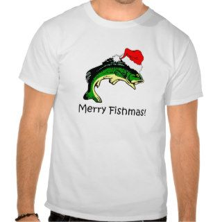Funny fishing Christmas Tee Shirts
